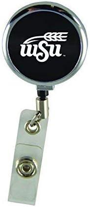 Wichita State University-Retractable Badge Reel-Black LXG Inc