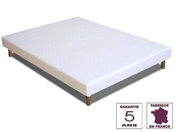 Cadres De Lit, Lits Coffres Maison Sommier 140x200 A Lattes Resistantes Extra Larges Rigides 4 Pieds