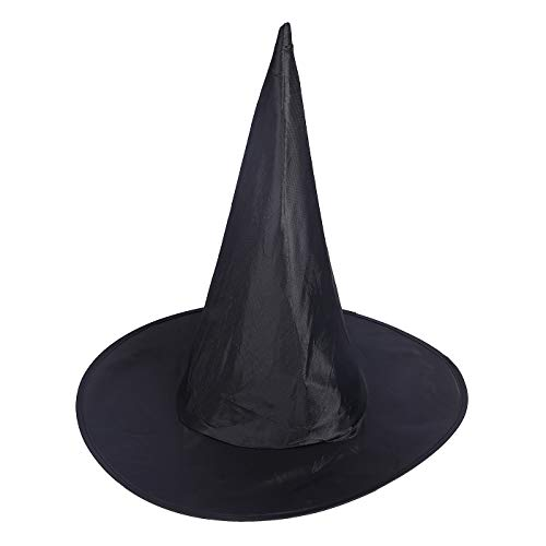 HDE Witch Hat Halloween Costume Cosplay Wicked Witch Accessory Adult One Size (Black) ()