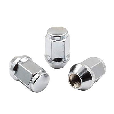 Set of 20 Lug Nuts Closed End Bulge Acorn Lug Nut Style 1.38