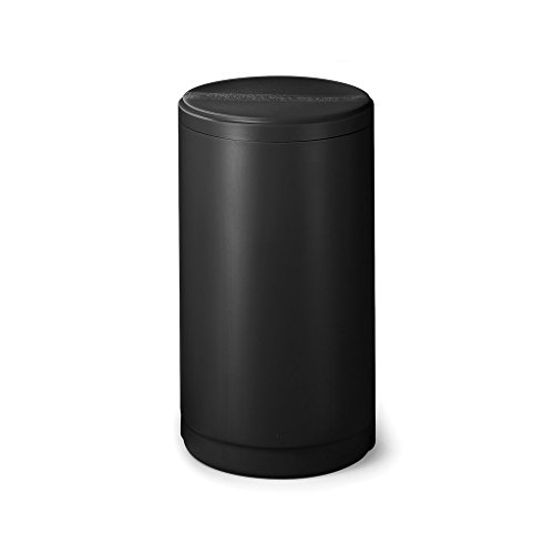 18-inch x 33-inch Black Round Salt Brine Tank for Water Softeners with Safety Float & Air Check Fleck