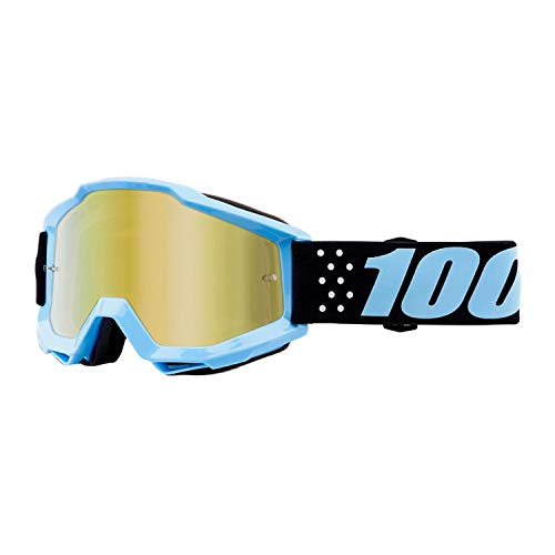 100% Youth Accuri Goggles - Mirrored Lens (Taichi/Gold Lens)