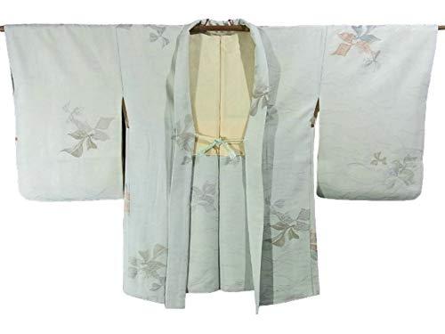 統治可能告白ほかにリサイクル 羽織 縫い取り  植物文様 裄64cm 身丈79cm 正絹