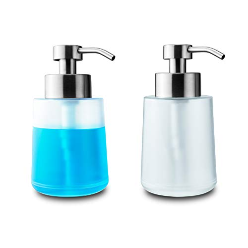 Lusuroi Plastic Hand Soap Dispenser with Pump, Refillable Dish Lotion Liquid Soap Dispenser for Kitchen, Bathroom…