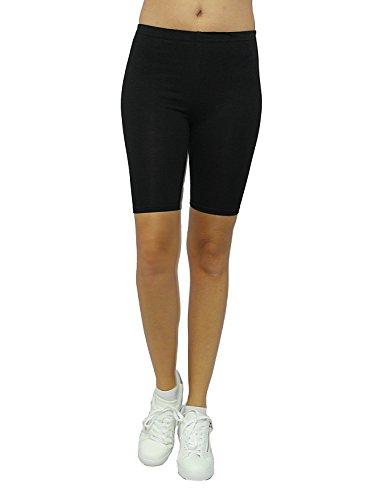 Slim Unita Pantaloncini Donna Tinta Nero Sys H18vx