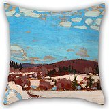 Artistdecor Pillowcase Of Oil Painting Tom Thomson - Early Spring,for Boys,bar Seat,office,bar Seat,teens Girls,her 18 X 18 Inches / 45 By 45 Cm(double Sides)