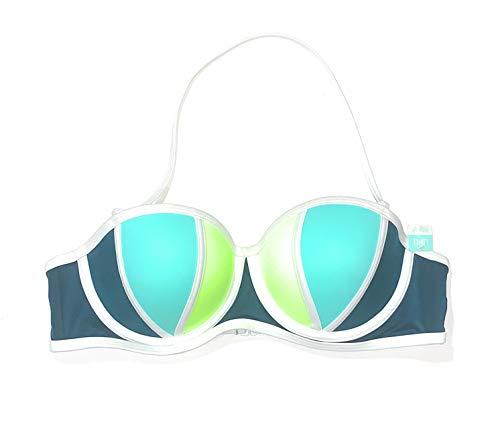 Victoria's Secret Pink Swim Padded Push Up Underwire Swimsuit Bikini Top Large A-C