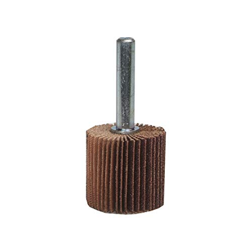 "Merit Flexible Mini Grind-O-Flex Abrasive Flap Wheel, Round Shank, Aluminum Oxide, 2"" Dia., 1"" Face Width, Grit 80, 25000 Max RPM (Pack of 10)"