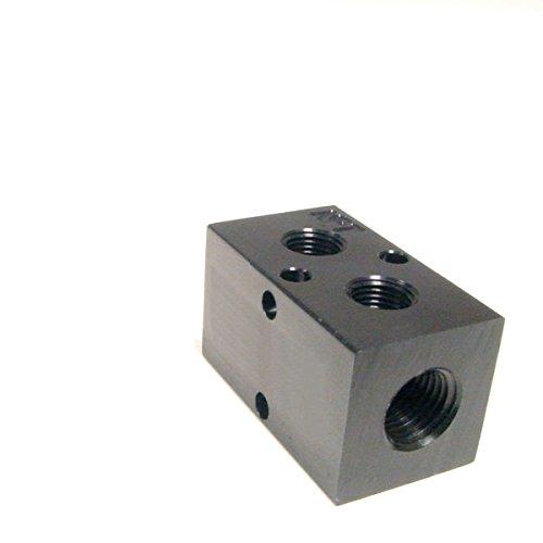 Pneumadyne M30-375-2, Inline Manifold, 2-Station, 1/2 NPT Input, 3/8 NPT Output