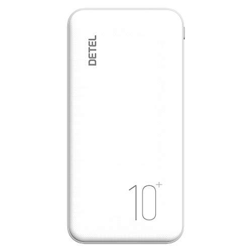 Detel Slim Lithium Polymer 10000mAh Power Bank  White