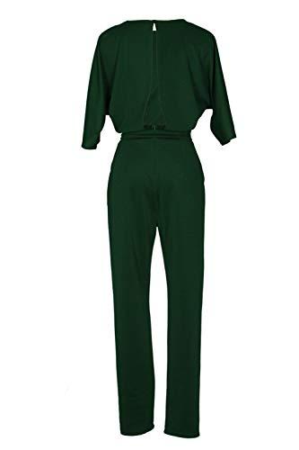 Vert Femmes Kelice Ceinture Pantalons avec Dos Nu Combi Longues Epaules Combinaisons v1nqTw