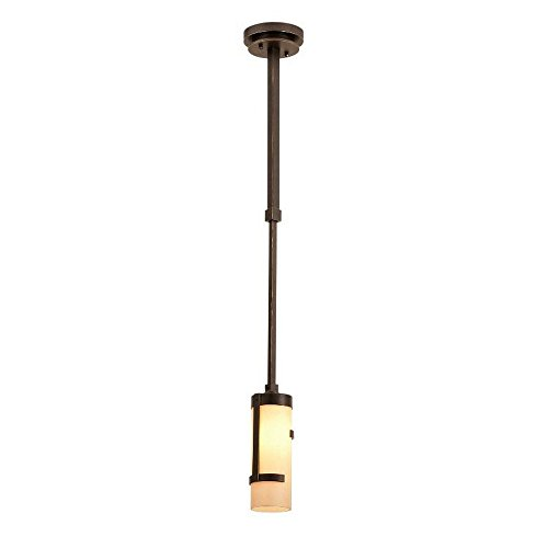 Kalco 3015-TP Emsworth - One Light Mini-Pendant, Tawny Port Finish with Antique Gold Glass
