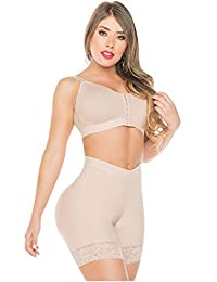 Fajas Salome Womens Lace Trim Ruched Butt Lifter