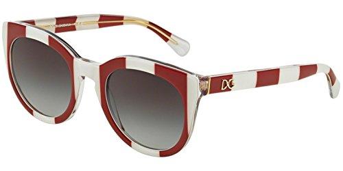 DOLCE & GABBANA Sunglasses DG 4249 30248G Stripe Red/White - Sunglasses Gabbana New Dolce And