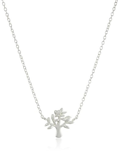 Sterling Silver Mini-Tree Pendant Necklace, 16 + 2 Extender
