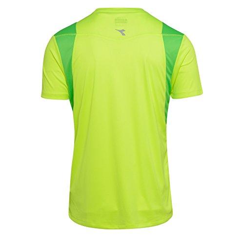 Neon shirt run 97015 Homme X T Diadora Jaune Ss Pour WzxPnwSf