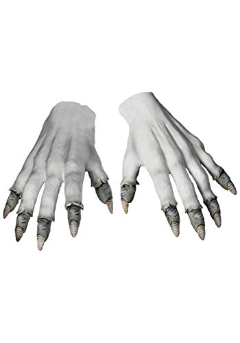 Scary Cosplay Costumes (Morbid Enterprises Pennywise Gloves, White/Grey, One)