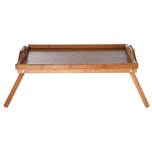 Anewoneson Big Sales Computer Desk Family Bamboo Ring Tray with White top Foldable Breakfast Tray Table Laptop Stand