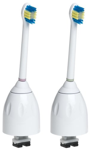 Philips Sonicare HX7012/60 e-Series Compact Replacement Brush Heads, 2-Pack