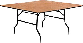 Flash Furniture 60 Square Wood Folding Banquet Table