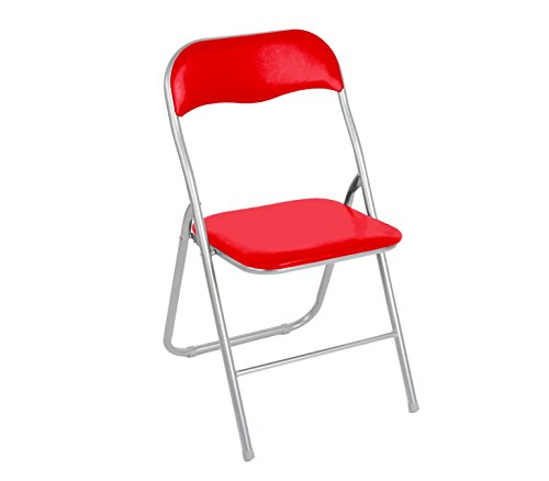 2008AN0816 Set de 6 sillas plegables mod.Oslo base metalica y asiento acolchado - R