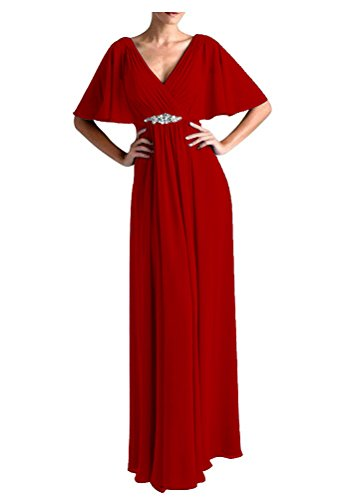 VaniaDress Women V Neck Half Sleeveles Long Evening Dress Formal Gowns V265LF Burgundy US26W from VaniaDress