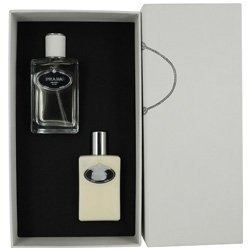 PRADA INFUSION D'HOMME by Prada Gift Set for MEN: EDT SPRAY 3.4 OZ & AFTERSHAVE BALM 3.4 OZ