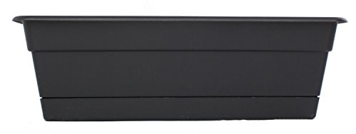 Plastic Window Box - Bloem DCBT30-00 Dura Cotta Plant Window Box, 30-Inch, Black