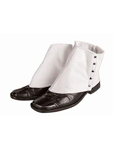 Forum Novelties Men's Roaring 20's Gangster Spats Costume Accessory, White, One Size -
