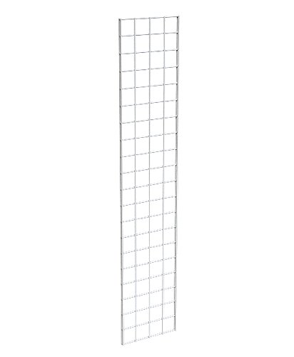 AMKO GPW15 Gridwall Panel 1 ft. x 5 ft, White Finish, ¼ in. Wire, Reinforced Double Vertical Sides, Metal Construction (Pack of 3)