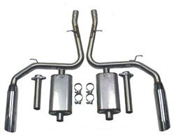 Bassani 465414 Cat Back Exhaust System for Ford - Back Bassani Exhaust Cat
