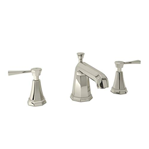 Deco Widespread Lavatory Faucet - ROHL U.3141LS-PN-2 LAVATORY FAUCETS Polished Nickel