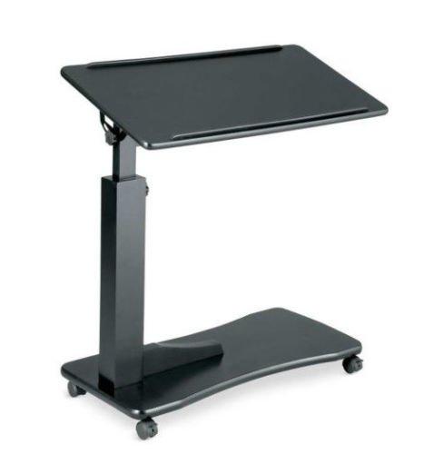 Composite Top Overbed Table (Bedroom Living Room ROLLING ADJUSTABLE READING BEDSIDE TABLE Furniture 3 COLORS (Black))