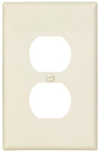 (EATON Wiring PJ8LA Mid-Size Polycarbonate 1 Gang Duplex Receptacle Wallplate, Light)