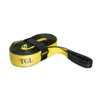 """3"""", 20' Tow Strap, 30,000 Pound Capacity with Reusable Storage Strap"""