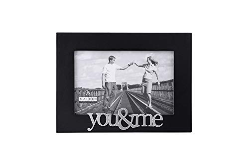 Malden International Designs Expressions You and Me Black Wood Picture Frame, 4x6, ()