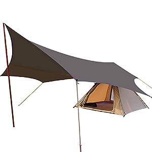 タープ TC TARP (4.1M*3.9M) 防水タープ テント 天幕シェード キャンプ アウトドア用 日除け ポリコットン