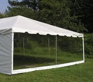 Side Party Tent Pole Frame (7' x 20' Clear Sidewall for Party Tent - Free Shipping (Sidewall Only Not Complete)