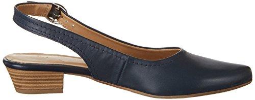 Tamaris 29400, Sandalias con Cuña para Mujer Azul (Navy Leather 848)