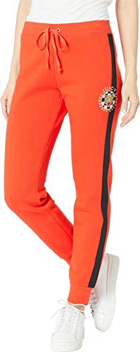 (Juicy Couture Women's Luxe Tiger Patch French Terry Zuma Pants Lava Red Small 29)