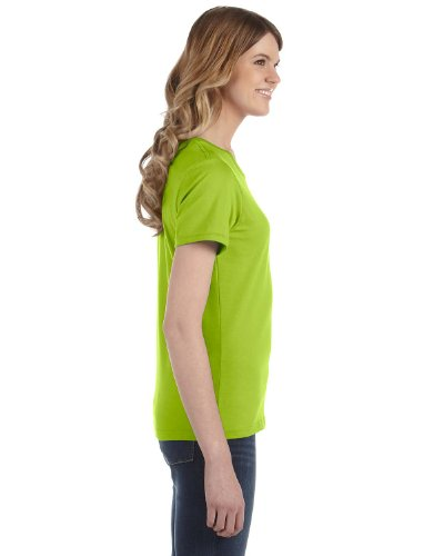 Yunque para mujer hilado y algodón Fashion Fit–Camiseta para hombre Verde (Key Lime)