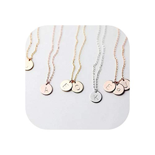 entertainment-moment Initial Necklace Gold Silver Letter Necklace Initials Name Necklaces Pendant for Women Girls Best Birthday,G,Silver Necklace