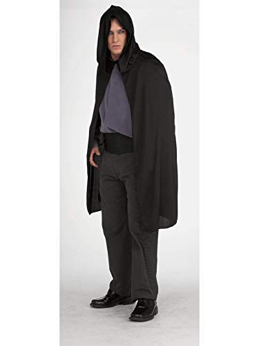 Rubie's Hooded Cape 3/4 Length Costume, Black, One Size ()