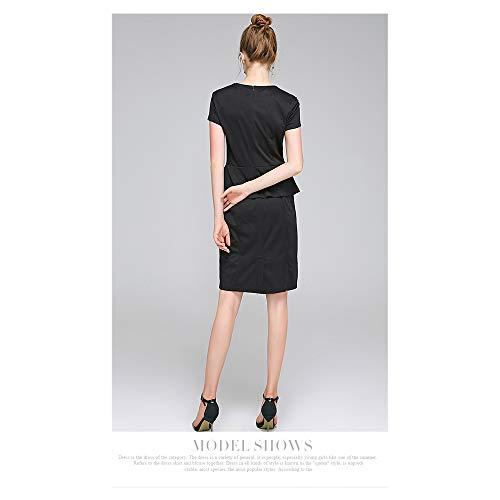 Femmes Courtes Size Navy Otprdirect Color S Black pour Jupe Officielle Color Manches wXagqf