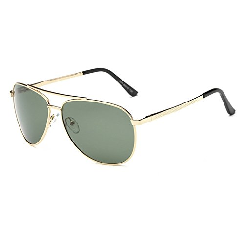 M-Egal Classic Polarized Men's Sunglass Metal Frame Eyewear For Driving Sports goldenEyes - Golden Sunglasses Eye