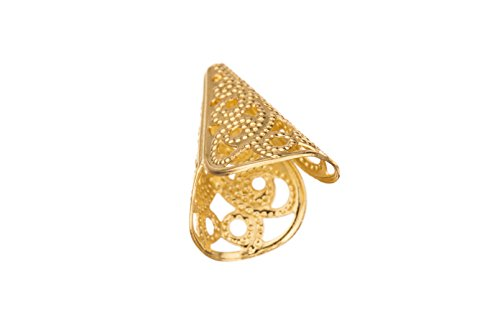 Bead Cap, Gold-Finished Brass, Filigree Cone, 16x12mm sold per pack of (Brass Cone)