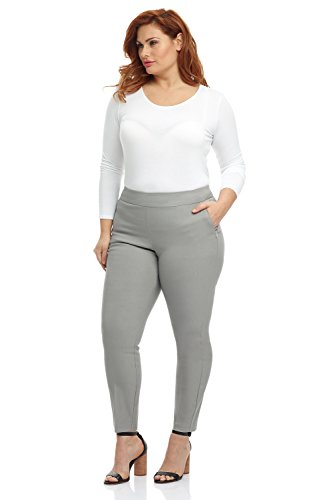 (Rekucci Curvy Woman Ease in to Comfort Skinny Plus Size Pant w/Tummy Control)