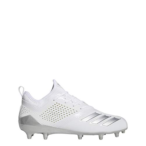 adidas Adizero 5-Star 7.0 Cleat - Men's Lacrosse White/Silver Metallic (All Star Game Cleats)