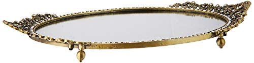 Amanti Art Framed Townhouse Gold Solid Wood Wall Mirrors, Glass Size 40×30,