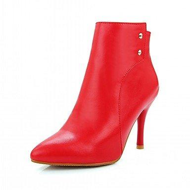 EU37 Botas US6 Botines De Novedad Talón De CN37 Pu Moda Zapatos Botas Mujer Sintética Stiletto Piel De Invierno UK4 Otoño Señaló Cremallera 5 7 5 Botines RTRY Toe Confort 5 xqORZw4UBU